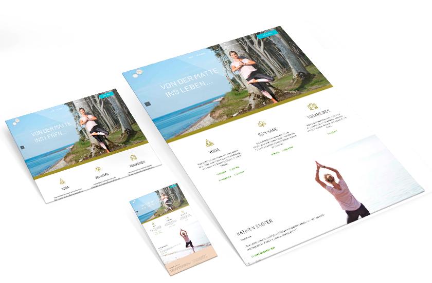 Yoga Gesundheitspraxis Website