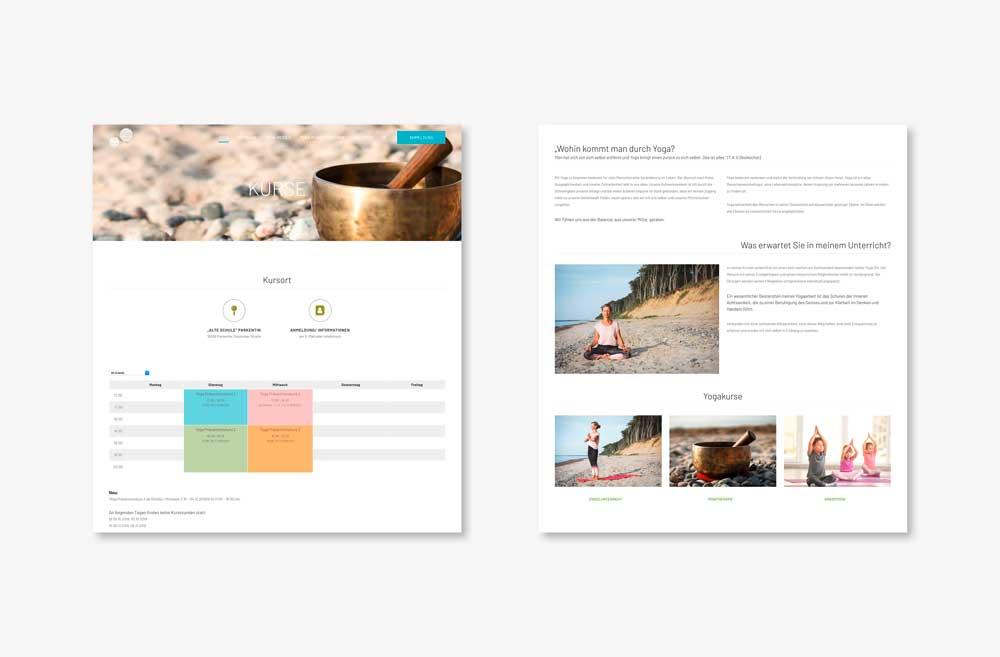 Yoga Gesundheitspraxis Website - Unterseite