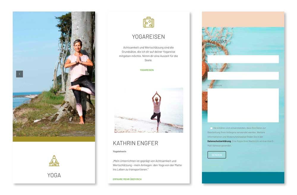 Yoga Gesundheitspraxis Website - mobil 2