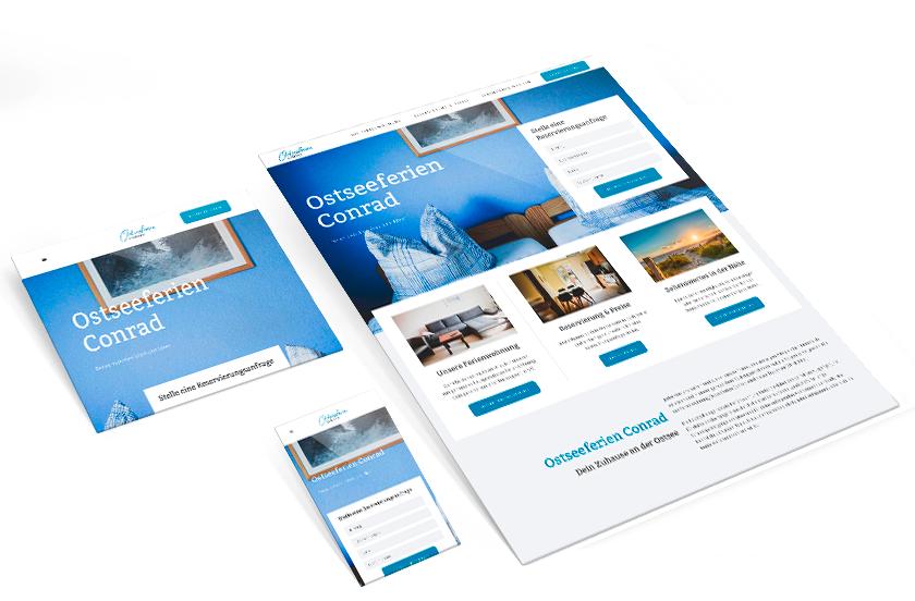 Ostseeferien Conrad Webseite