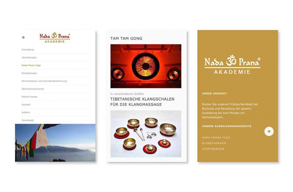 Nada Prana Website mobil