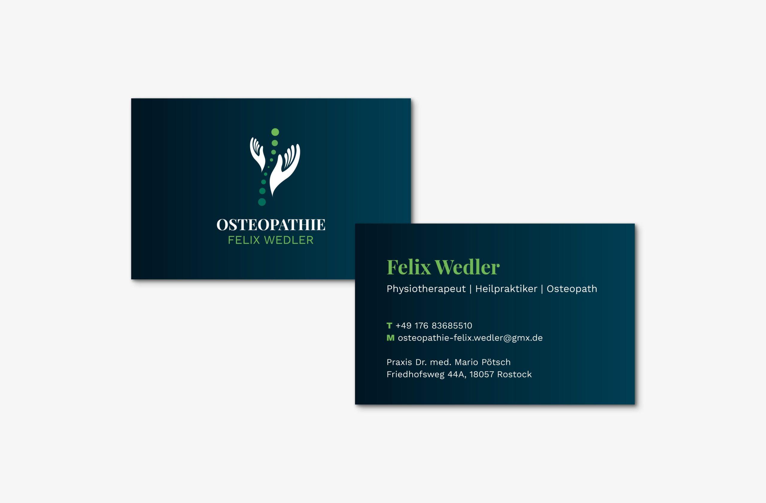 Felix Wedler Visitenkarte